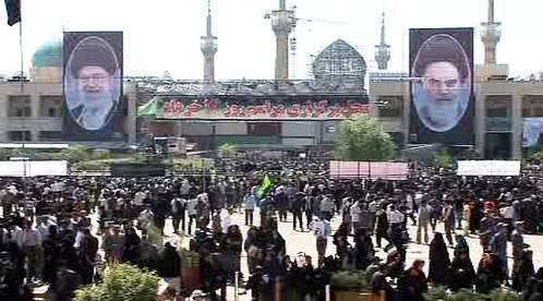 Shromáždění u hrobu imáma Chomejního