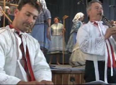 Kapela na přehlídce v Prušánkách