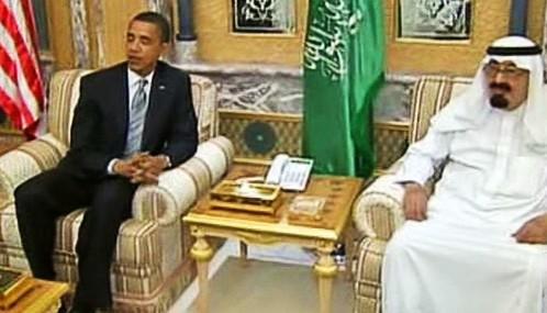 Barack Obama a král Abdalláh