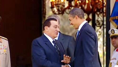 Husní Mubarak a Barack Obama