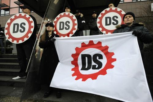 Protest příznivců Dělnické strany
