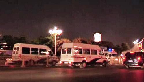 Čínská policie u Tchien-an-men