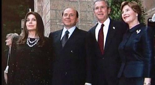 Silvio Berlusconi a Veronica Lariová