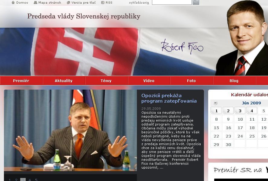 Internetové stránky Róberta Fica