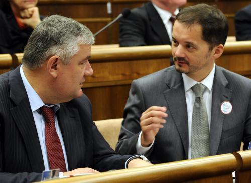 Ján Slota a Rafael Rafaj