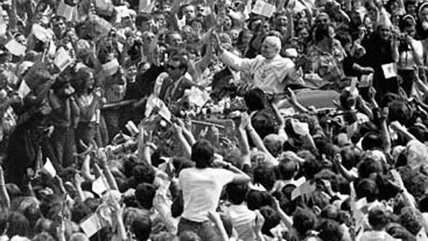 Jan Pavel II. na první návštěvě Polska