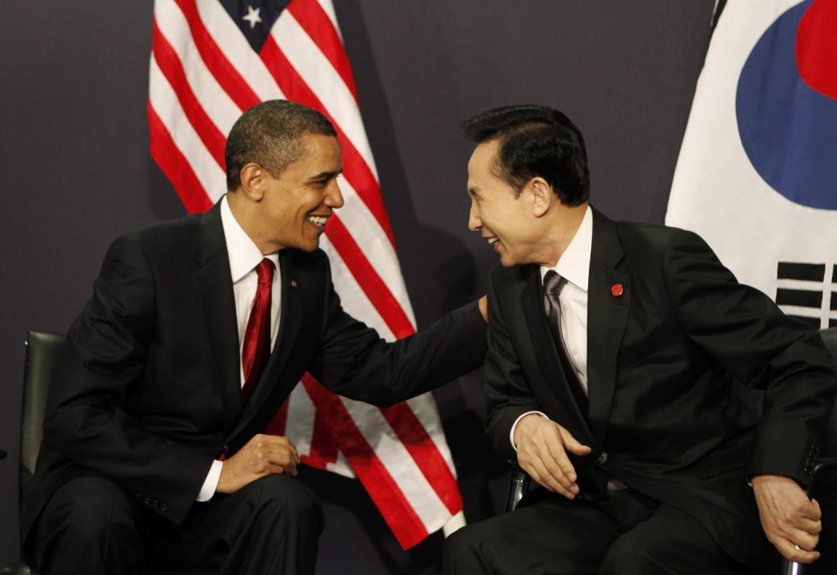 Barack Obama a I Mjong-bak