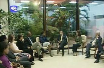Kubánský prezident a američtí kongresmani