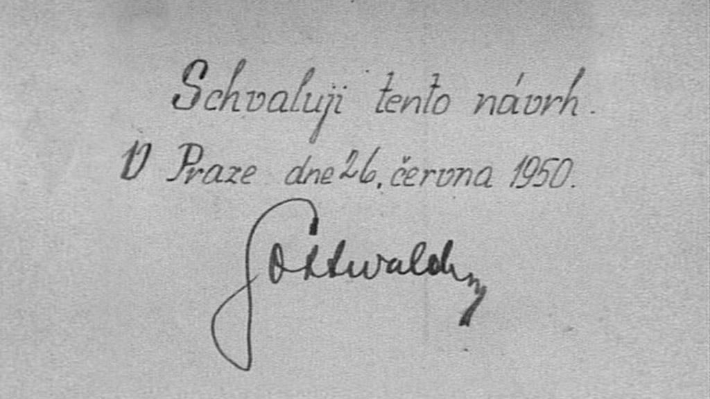 Gottwaldův podpis pod rozsudkem
