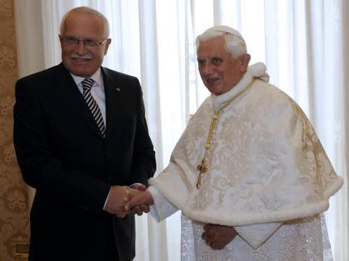 Václav Klaus a papež Benedikt XVI.