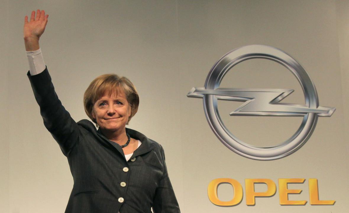 Angela Merkelová v Opelu
