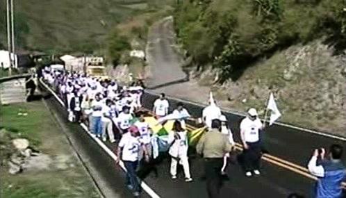 Protest proti hnutí FARC