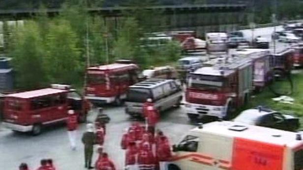 Požár v Tauernském tunelu
