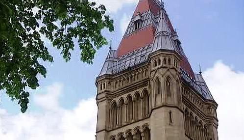 Věž muzea v Manchesteru