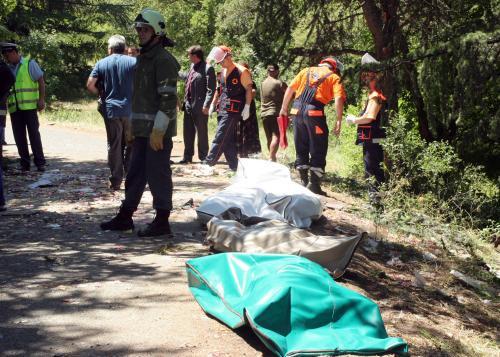 Oběti nehody autobusu v Bulharsku