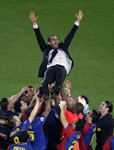 Oslavy vítězství Barcelony