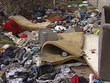 Odpad v předlické ulici