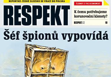 Obálka týdeníku Respekt