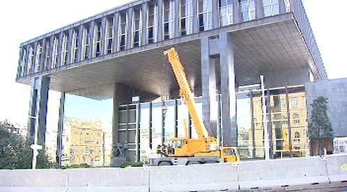 Zátarasy před bývalým Federálním shromážděním
