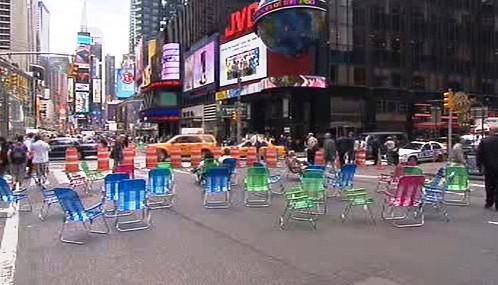 Pěší zóna na Broadwayi
