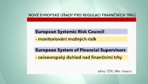 Nové evropské úřady pro regulaci finančních trhů