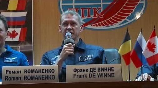 Kosmonaut Frank de Winne