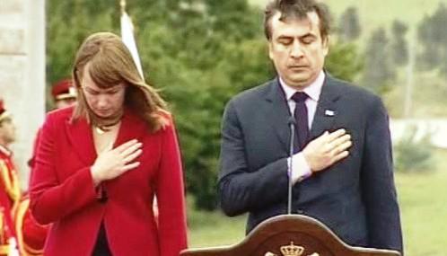Michail Saakašvili na oslavách Dne nezávislosti