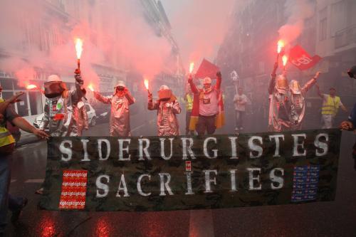 Protest francouzských pracujích