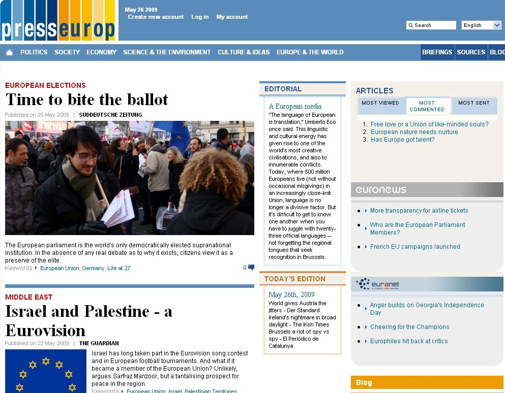 Nový server o Evropské unii