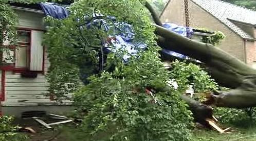 Následky bouře v Holandsku