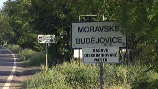 Vylepšená cedule Moravských Budějovic
