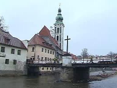 Lazebnický most v Českém Krumlově