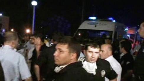 Požár v nemocnici v Turecku