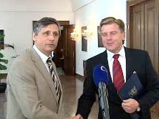 Miloslav Vlček a Jan Fischer