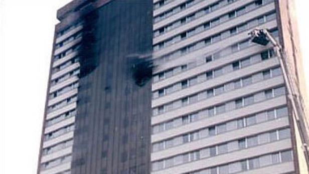 Požár hotelu Olympik v Praze