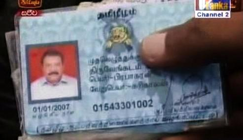 Průkaz Vélupilláího Prabhakarana