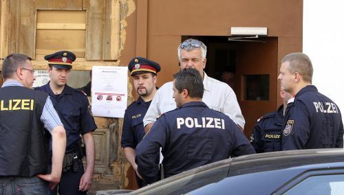 Policie na místě přestřelky