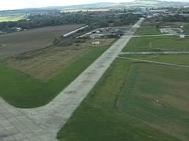 Runway chebského letiště