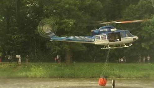 Simulace záchranného zásahu vrtulníku