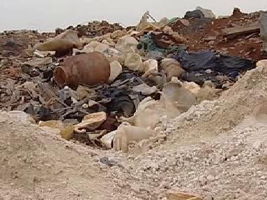 Uskladněný odpad na skládce u Vrbičan