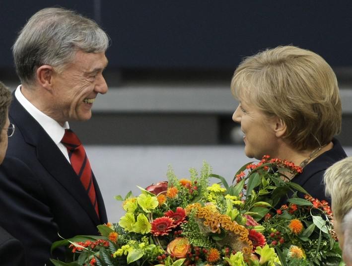 Horst Köhler a Angela Merkelová