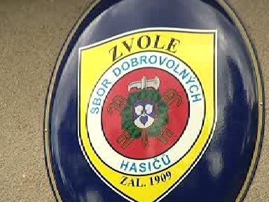 Znak hasičského sboru ve Zvoli