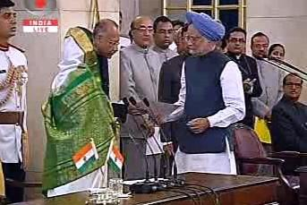 Pratibha Pátilová a Manmóhan Singh