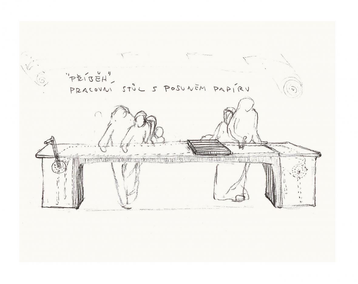 Leporelohra - skica