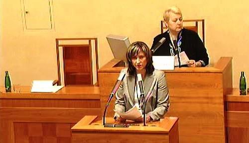 Ivana Řápková v Senátu