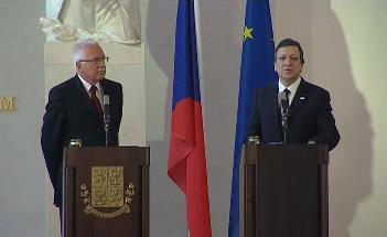 Klaus a Barroso