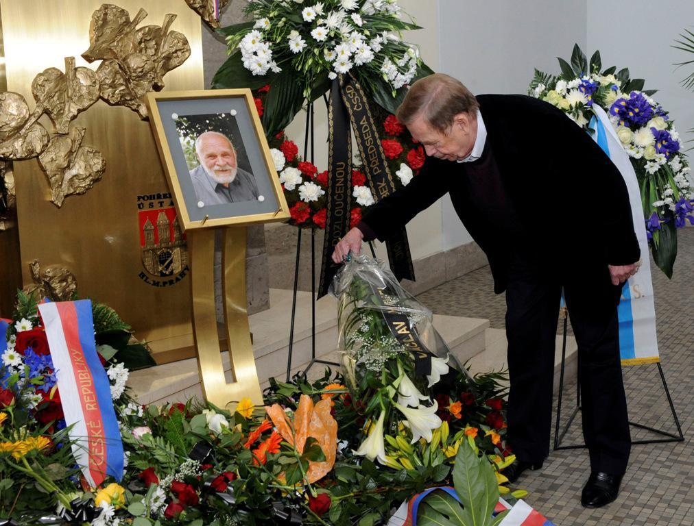 Václav Havel na rozloučení s Věňkem Šilhánem