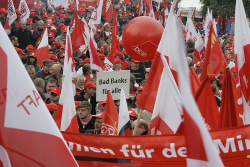 Odboráři demonstrují v Berlíně