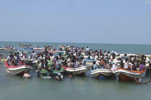 Civilisté na Srí Lance