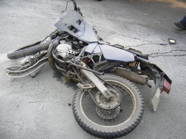 Shořelý motocykl